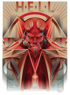 HELLBOY Vector Tribute © Orlando Arocena 2014, via Behance- click to see the actual work behind this tribute.