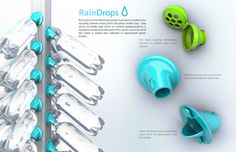 An innovative rain collection system that can be implemented anywhere, using the ubiquitous plastic bottle.
