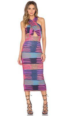 Mara Hoffman Criss Cross Midi Dress in Connector Pink | REVOLVE
