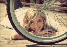Bicycle prop for senior photoshoot!