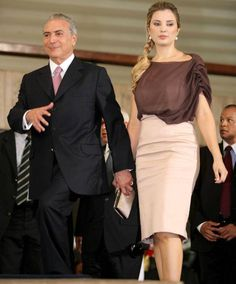 Foto: Michel Temer y su esposa Marcela (Cordon Press)