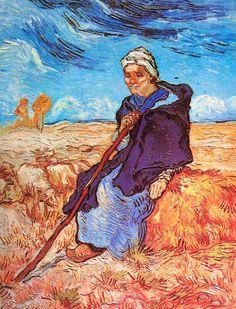 Vincent van Gogh. The Shepherdess (after Millet). Saint-Rémy, November 1889. Oil on canvas, 52.7x40.7cm. Tel Aviv, Tel Aviv Museum, loaned by Moshe Mayer, Geneva.