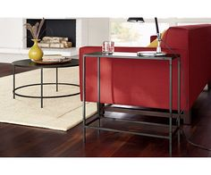 Slim Round Cocktail Table in Natural Steel - Cocktail Tables - Living - Room & Board