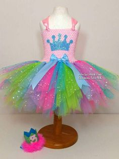 Multicoloured Super Sparkly Party Tutu Dress by BloomingTutusUK
