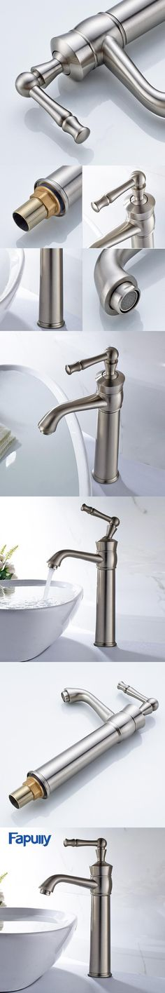 Reasonable Fapully Bathroom Basin Faucet Single Handle Sink Mixer Tap Gilt Porcelain Bronze Deck Mounted Cold Hot Water Tap Bathroom Fixtures