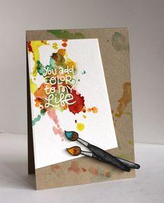 Alice Wertz: Alice's {Little} Wonderland –  I Heart Art - 3/6/14.m (Paper Smooches stamps: I Heart Art.  Tim Holtz Splatter stencil).