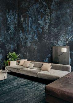 Muebles Living, Elderly Home, New Wall, Living Room Interior, Interior Design Inspiration, Textured Walls, Living Room Designs, Interior Architecture, Modern Design