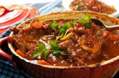 Osso buco is a fancy name for a rich and hearty Italian stew made with veal shanks tomatoes wine and fresh herbs. Here's how you can make osso buco at home. Slow Cooker Soup, Slow Cooker Recipes, Meat Recipes, Cooking Recipes, Recipes Dinner, Beef Shank Recipe, Osso Bucco Recipe Pork, Oso Bucco Recipe, Quinoa