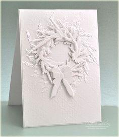 White Christmas Wreath Card