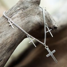 Tutti & Co Eve Silver Chain Bracelet With Crosses - Lizzielane.com. Now £7 http://www.lizzielane.com/product/tutti-co-eve-silver-chain-bracelet-with-crosses/