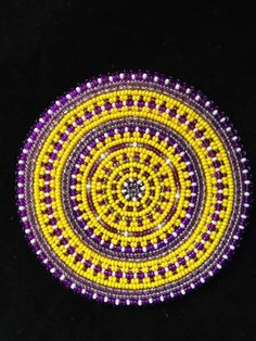 Purple and Yellow Medallion by Thomas Harvey