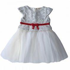 Vestido Laço Veludo - Vestidos de Festa - Bebê Menina - Petit Cherie