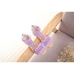Girl's Sandals Summer Mary Jane PU Outdoor Flat Heel Others Blue / Pink / Beige Others 5308363 2016 – $16.99