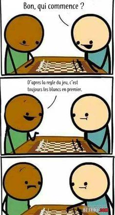 Aux échecs les blancs jouent en premier ! - Be-troll - vidéos humour, actualité insolite