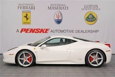 Stop by Scottsdale Ferrari today and see our wide selection of Ferrari inventory including this 2011 Ferrari 458 Italia in Blanco Avus. Ferrari 458, Maserati, New And Used Cars, Italia