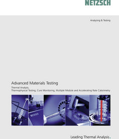 Product Overview - Thermal Analysis, Thermophysical Testing, Cure Monitoring, Multiple Module and Accelerating Rate  http://www.producttestinglab.comCalorimetry. http://www.catalogindustry.com/en/Document/389/advanced-materials-testing-netzsch-geratebau-gmbh-brochures