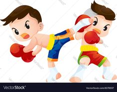 vector image on VectorStock Free Vector Images, Vector Free, Tigger, Boxing, Adobe Illustrator, Thailand, Royalty, Web Design, Pdf