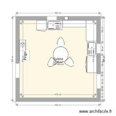cuisine Bathroom Medicine Cabinet, Floor Plans, How To Plan, Kitchens, Floor Plan Drawing, House Floor Plans