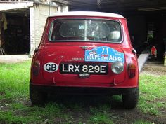 1967 Ex Works MiniCooper S unrestored LRX 1967 Geneva Rally R.Liddon 1967 Geneva Rally J.Liddon 1967 Alpine Rally T.Easter The first time out of the garage in 24 years, for Beaulieu Show 2013 Red Mini Cooper, Mini Coopers, Classic Mini, Classic Cars, Mini Stuff, Rally Car, Monte Carlo, Motor Car, Minis