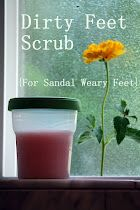 Dirty Feet Scrub (the results of living in flip flops!)