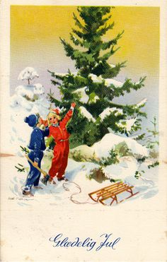ˇˇ Christmas Pictures, Christmas Art, Vintage Christmas, Christmas Is Coming, Vintage Cards, Vintage Postcards, Old And New, Winter Wonderland, Boy Or Girl
