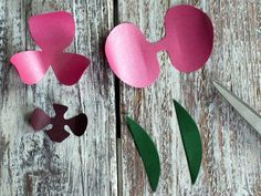 How to Make Tropical Paper Orchids:  From DIYNetwork.com from DIYnetwork.com
