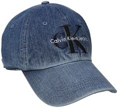 Calvin Klein Jeans Men s Denim Reissue Logo Baseball Dad Hat 90b0301519c3