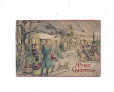 1930s Victorian Style Christmas Greeting Card by VictorianWardrobe