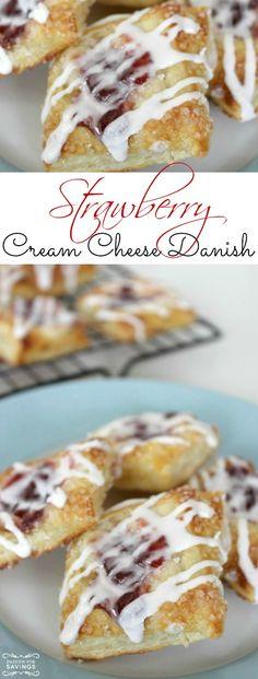 Strawberry Cream Cheese Danish Recipe! Easy Breakfast Recipe or Brunch Recipe for Friends and Family!