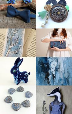 Night in blue by Gioconda Pieracci on Etsy--Pinned with TreasuryPin.com
