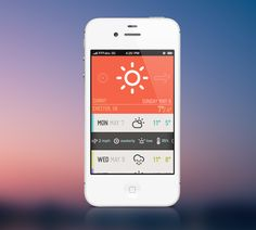 Weatherette iphone app