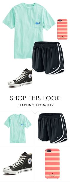 """lay z"" by claire-kitty on Polyvore featuring Vineyard Vines, NIKE, Converse, Kate Spade, women's clothing, women, female, woman, misses and juniors"