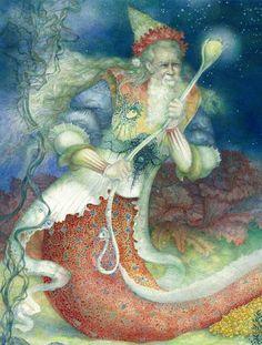 'Vodyanoi' fairy tale illustration by Inna Indichenko