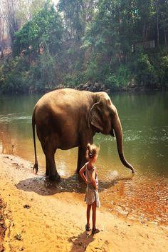 "Kanchana, Thailand josjalavie ""Meeting a a rescued elephant"""