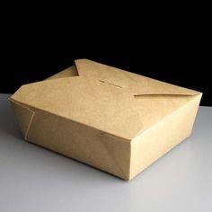 Biodegradable Leak-Proof Food Carton No.5 Brown - 36oz (150)