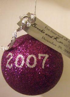 Wedding Favor Idea for a winter wedding - Christmas Ornament Lovely idea.