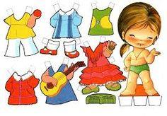 Resultado de imagen para muñecas para vestir princesas y recortar