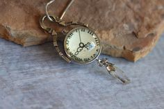 Watch Parts and Quartz Crystal Dangle by TheTwoWickedMagpies, $40.00