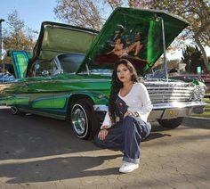 Trendy custom cars for girls Chevrolet Impala, 64 Impala, Chevrolet Chevelle, Chica Chola, Santa Monica, Chola Girl, Lowrider Art, Girly Car, Custom Cars