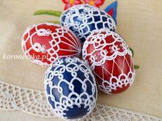 Frywolitki, tatting, Easter Egg