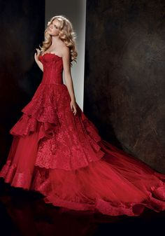 red lace  Alessandro Angelozzi Couture '13