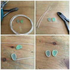 Art Jewelry Elements:Soldered Sea Glass Earrings