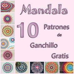 mandala crochet free pattern mandala patron gratis ganchillo patrones grafico paso a paso how to doily carpeta tapete como tejer Mandala Crochet Patron, Crochet Mandala Pattern, Crochet Lace Edging, Crochet Doilies, Crochet Stitches, Crochet Diy, Crochet Pillow, Crochet Crafts, Crochet Free Patterns