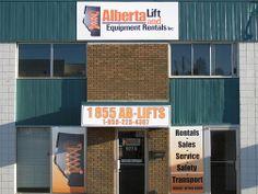 Alberta Lift - Building Signage and Windows #windowgraphic #signage #design #graphic