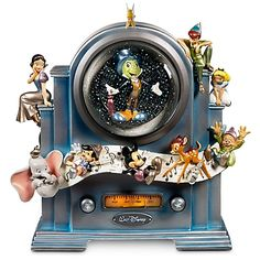 Disney Store 25th Anniversary ''On the Air'' World of Disney Snowglobe