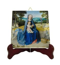 Virgin and Child by Gerard David - religious icon on tile - Virgin Mary art - religious gifts - catholic art - catholic gifts - holy art