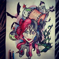 #harleyquinn #neotraditional #batman #dc #gotham #joker #hammer #hahaha #hungary #
