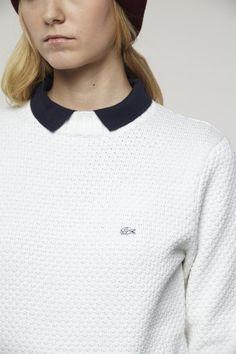 #Lacoste L!VE Textured Crewneck #Sweater