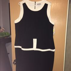 Black and White Peplum Dress This dress is perfect for work or special occasions Dresses Midi