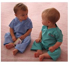 My First Scrubs. Since the hubs and I both work in the medical field, these are PERFECT for little Ryker!!!